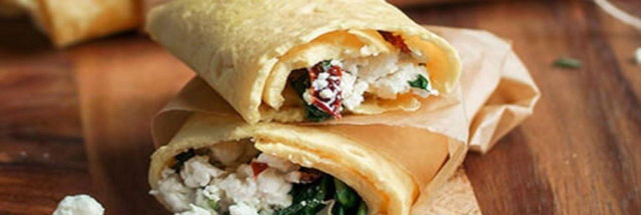 Keto Wrap with Spinach Herbs & Feta Mevolife