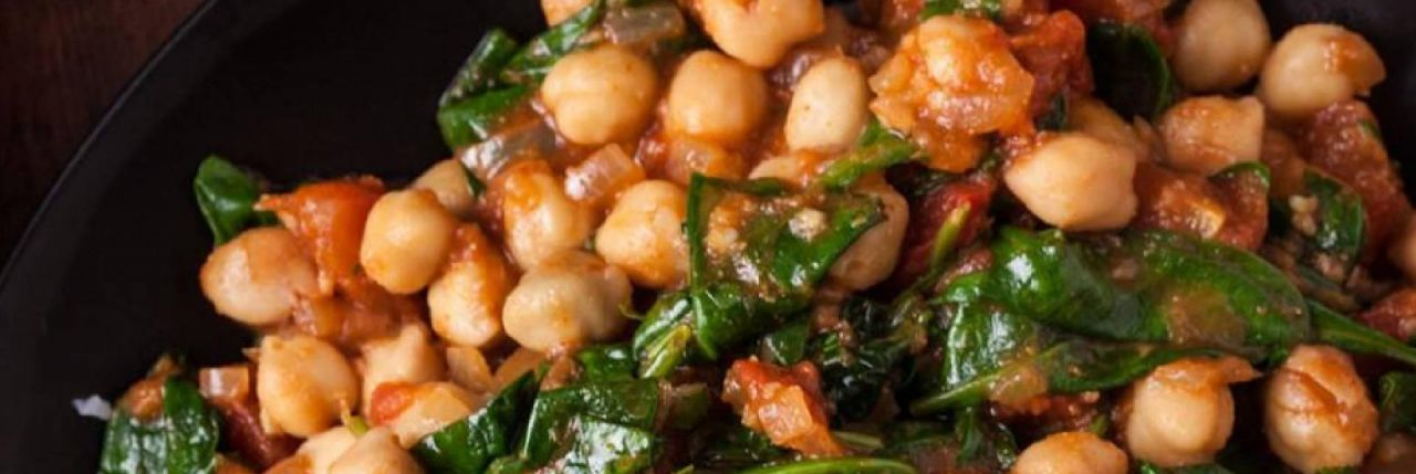 Spicy Chickpeas with Spinach & Coconut Cream