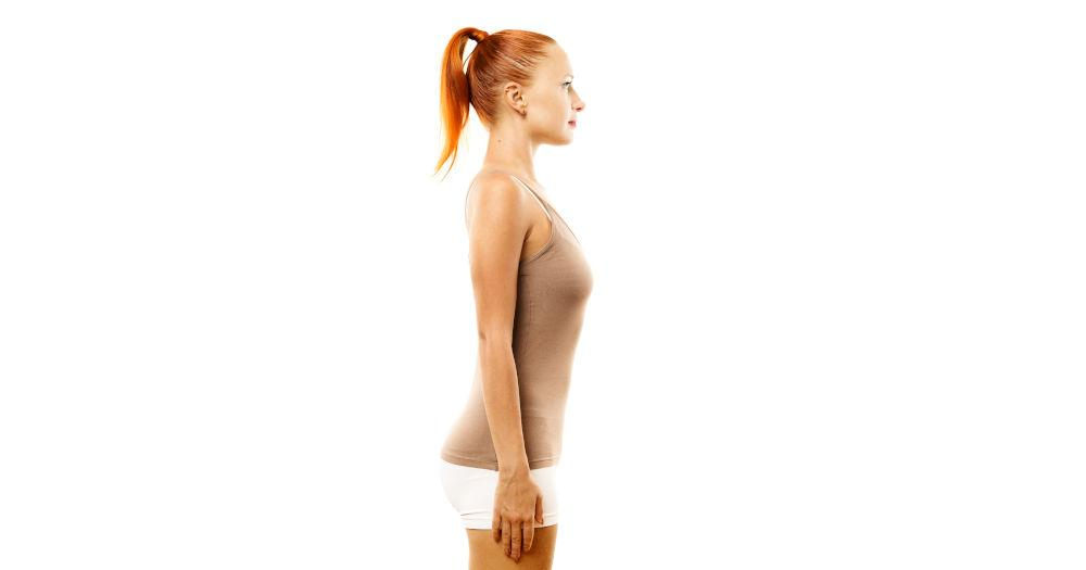 Correct sitting or standing postures