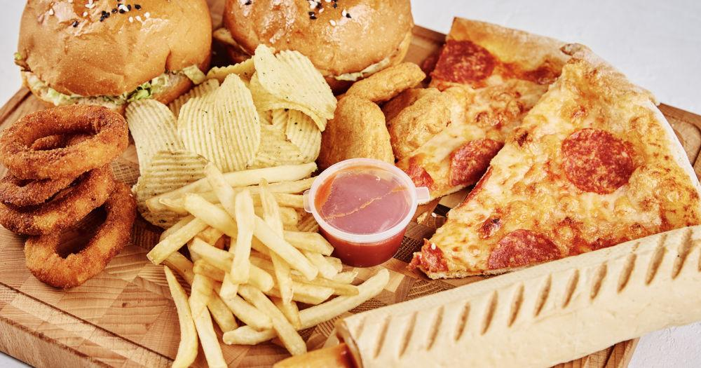 Fatty, processed food
