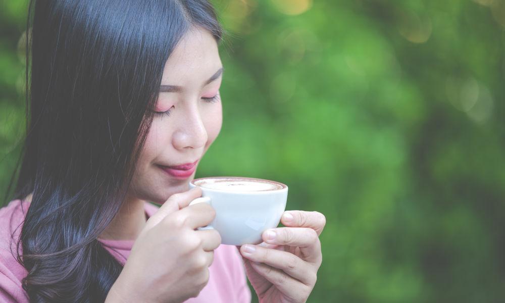 Sip hot tea or coffee