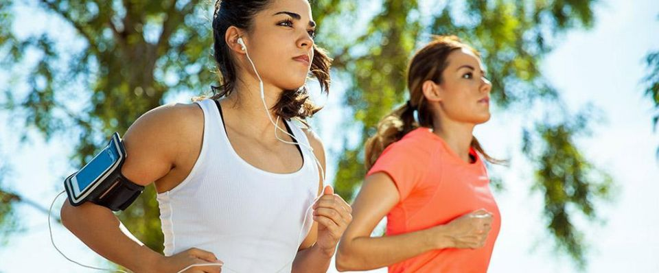 Music makes workout easier!