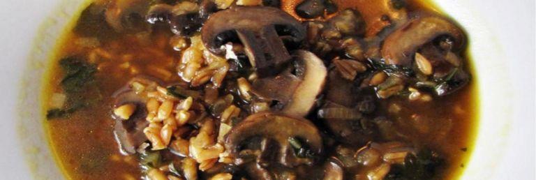 Mushroom Soup with Farro