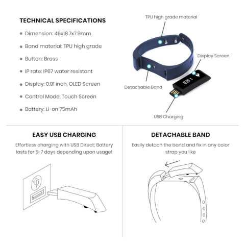 Fitness Tracker Royal Blue-8